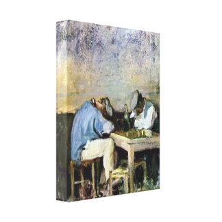 Grigorescu - Two Drunks Stretched Canvas Print