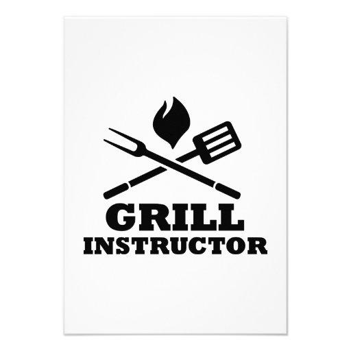 Grill BBQ Instructor Custom Invitations