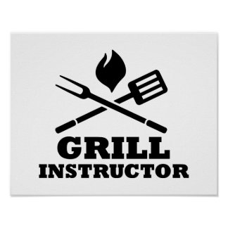 Grill BBQ Instructor Posters