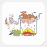 Grill Grillen barbecue BBQ Quadratsticker