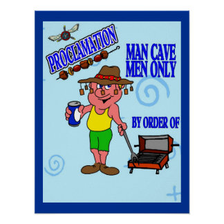 Grill Guy Man Cave Poster