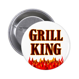 Grill King BBQ Saying Button