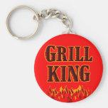 Grill King BBQ Saying Keychain