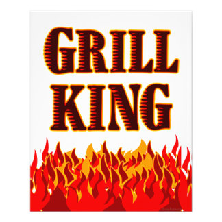 Grill King Red Flames Custom Flyer Template