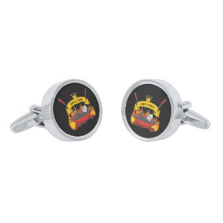 Grill King Silver Finish Cufflinks