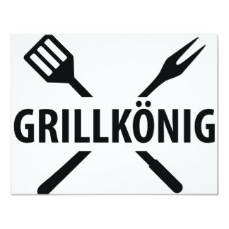Grill König icon 11 Cm X 14 Cm Invitation Card