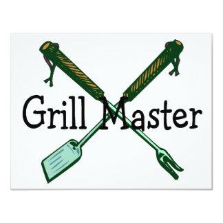 Grill Master 11 Cm X 14 Cm Invitation Card
