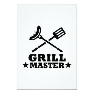 Grill Master 9 Cm X 13 Cm Invitation Card