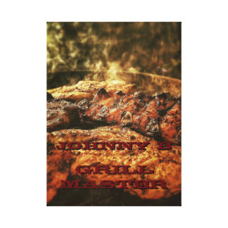 Grill Master Barbecue Personalized Gifts Canvas Prints