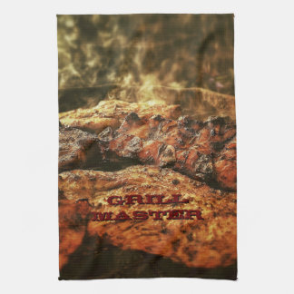 Grill Master Barbecue Personalized Gifts Tea Towel