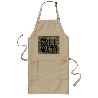 Grill Master BBQ apron with pixel army camouflage