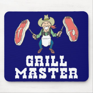 Grill Master Cowboy Mouse Pad