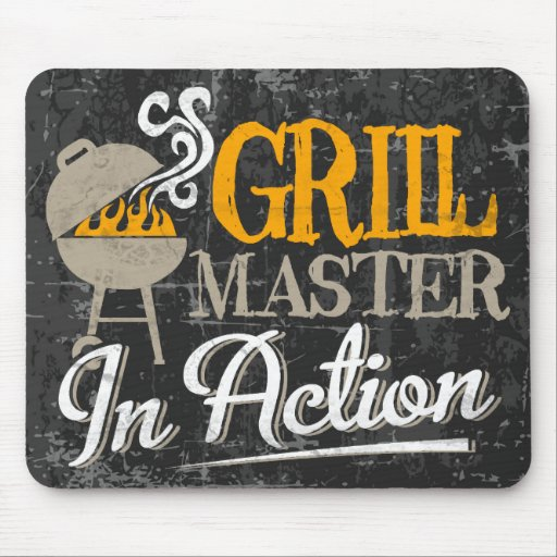 Grill Master In Action Mouse Pad