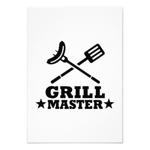 Grill Master Custom Invitations