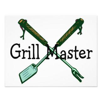 Grill Master Invitations