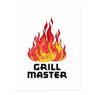 GRILL MASTER POSTCARD