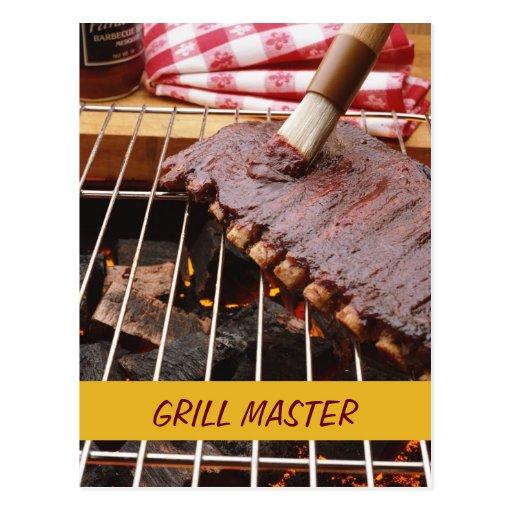 Grill Master - postcard