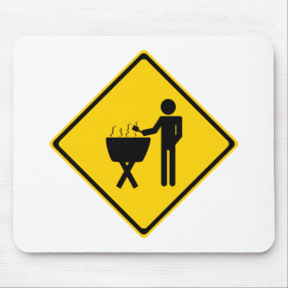 Grill Master Road Sign Mouse Pad