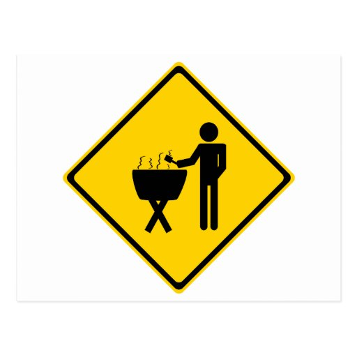 Grill Master Road Sign Post Cards