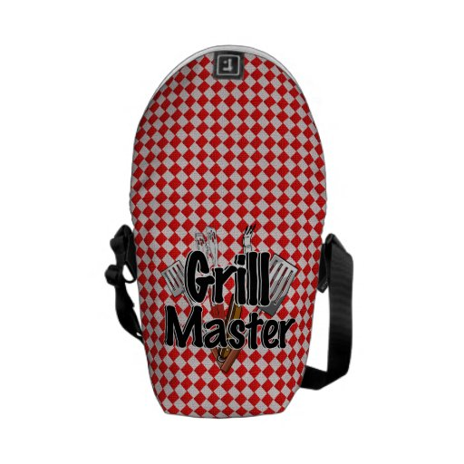 Grill Master with BBQ Tools & Picnic Table Messenger Bags
