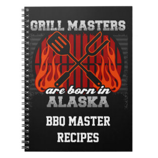 Grill Masters Are Born In Alaska Personalized Notebook