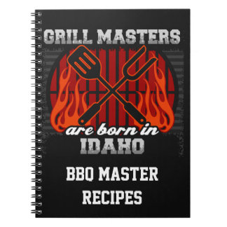 Grill Masters Are Born In Idaho Personalized Notebooks