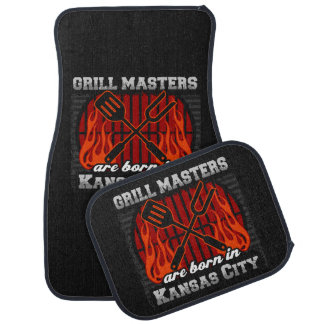 Grill Masters Are Born In Kansas City Missouri Car Mat