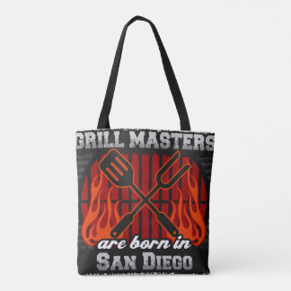 Grill Masters are Born in San Diego Florida Tote Bag
