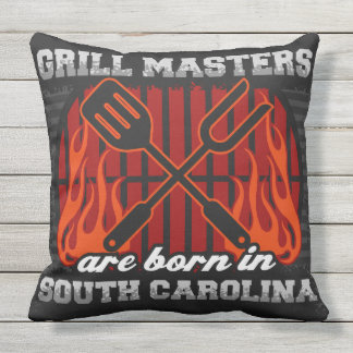 Grill Masters Are Born In South Carolina Outdoor Cushion