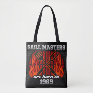 Grill Masters Are Born In the Year 1969 Tote Bag