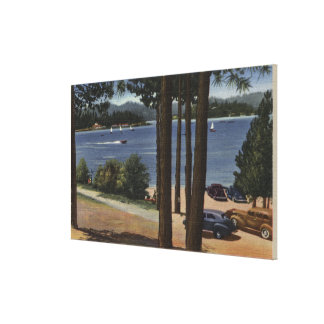 Grill Point View of Lake Canvas Print