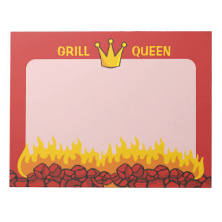 Grill Queen Crown Notepad