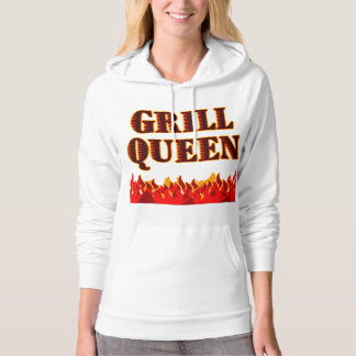Grill Queen Funny BBQ Saying Hoodie