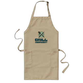 Grill Seargent with custom monogram Long Apron