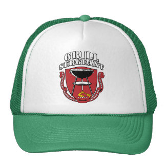 Grill Sergeant Barbecue Summer July 4th Trucker Hats