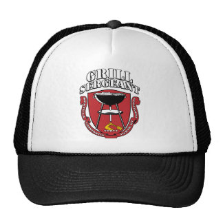Grill Sergeant Barbecue Summer July 4th Mesh Hat