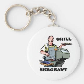 Grill Sergeant Keyring Basic Round Button Key Ring
