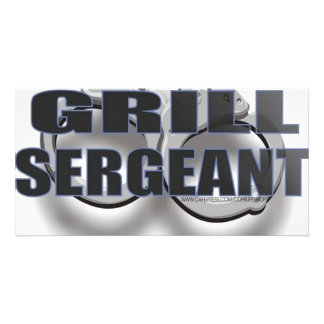 GRILL SERGEANT PHOTO CARD TEMPLATE