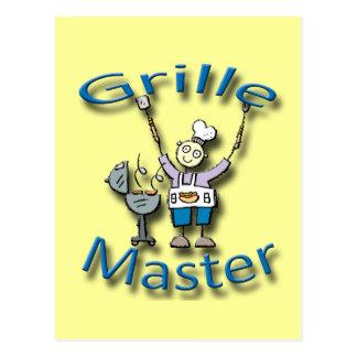 Grille Master blue Postcard