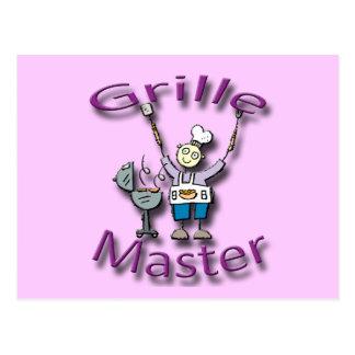 Grille Master violet Post Card