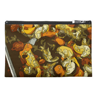 Grilled Carrots Zucchini and Mushroom Dish Travel Accessories Bags