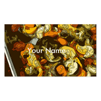 Grilled Carrots Zucchini and Mushroom Dish Pack Of Standard Business Cards