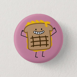 Grilled Cheese Sandwich Cheddar Toasted Bread 3 Cm Round Badge