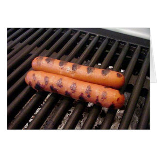 Grilled Hot Dogs Card