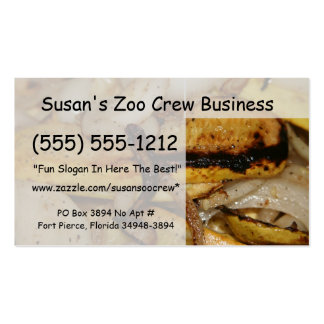 Grilled onion slices and yellow squash pieces pack of standard business cards