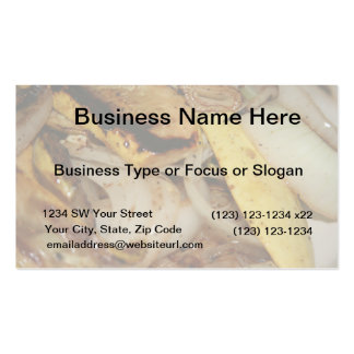 Grilled onions and squash food pack of standard business cards