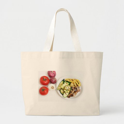 Grilled Squash And Mushrooms Canvas Bags