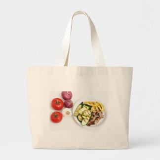 Grilled Squash And Mushrooms Jumbo Tote Bag