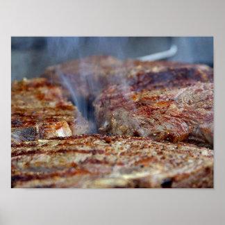 Grilled Steak Poster