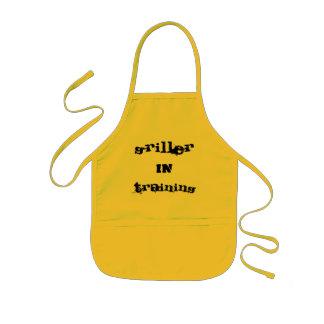 griller in training kids apron